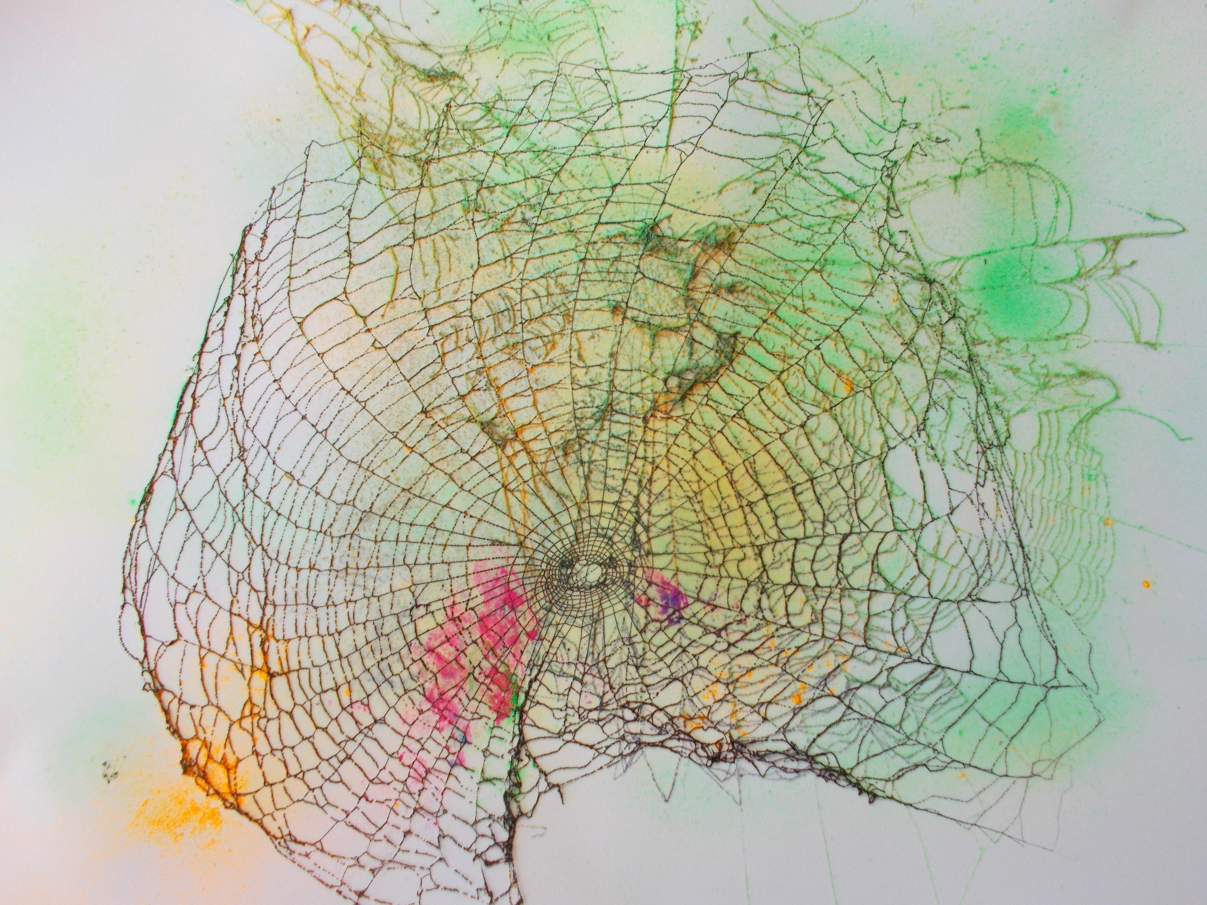 Netz leicht coloriert