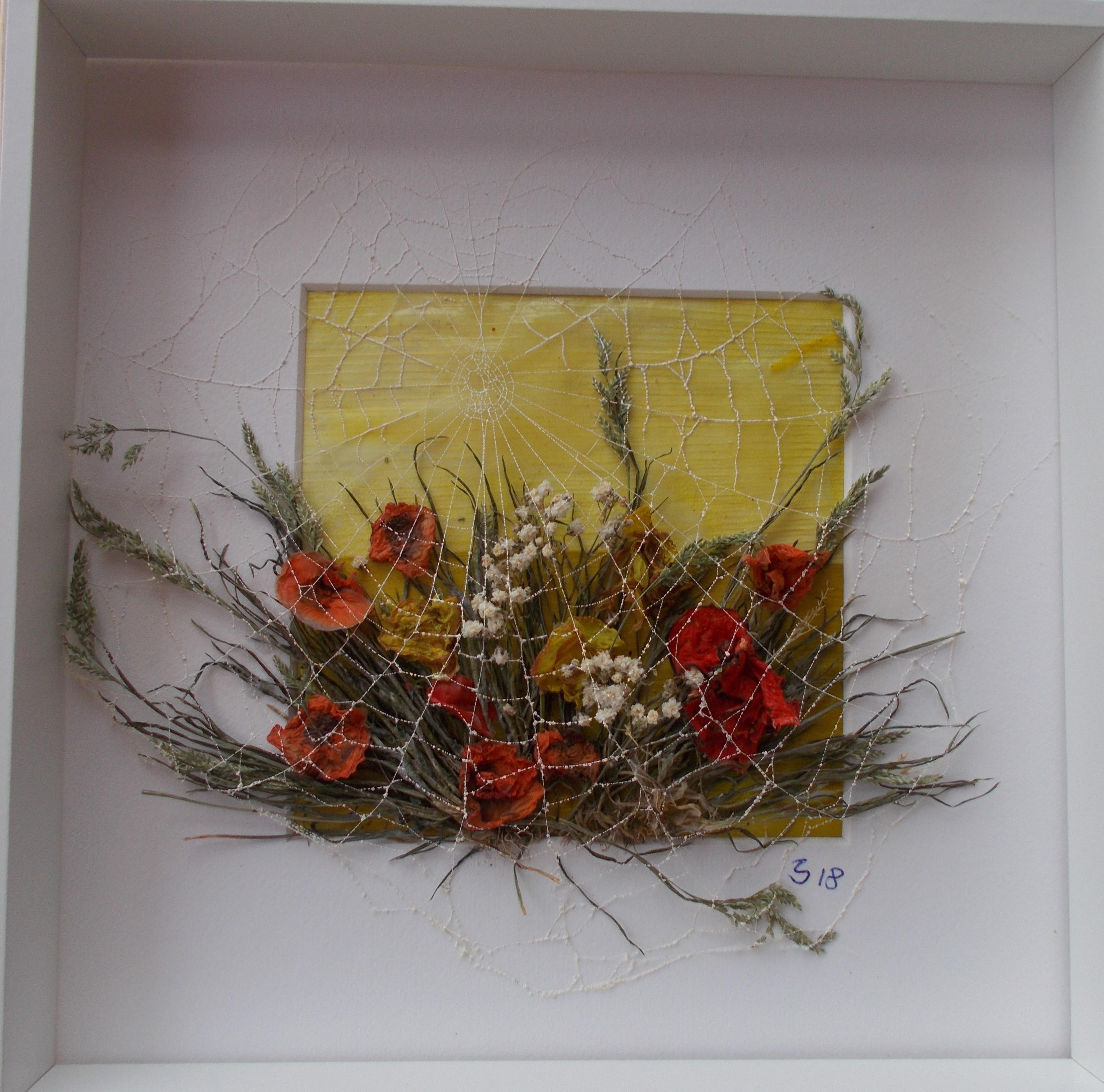 Herbstblumen mitPorreeintergrund 30*30
