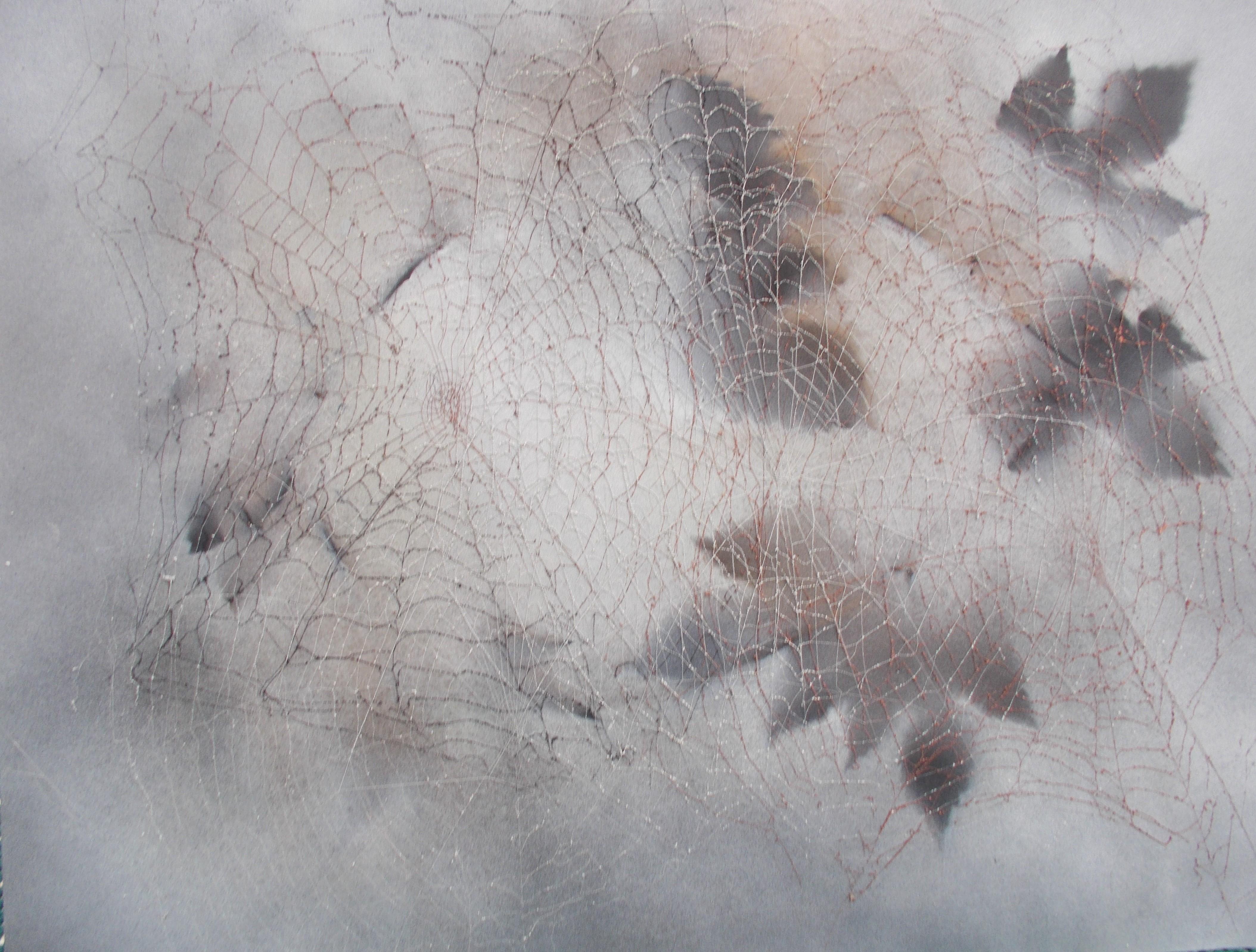 Netze zwischen Blättern 40*50