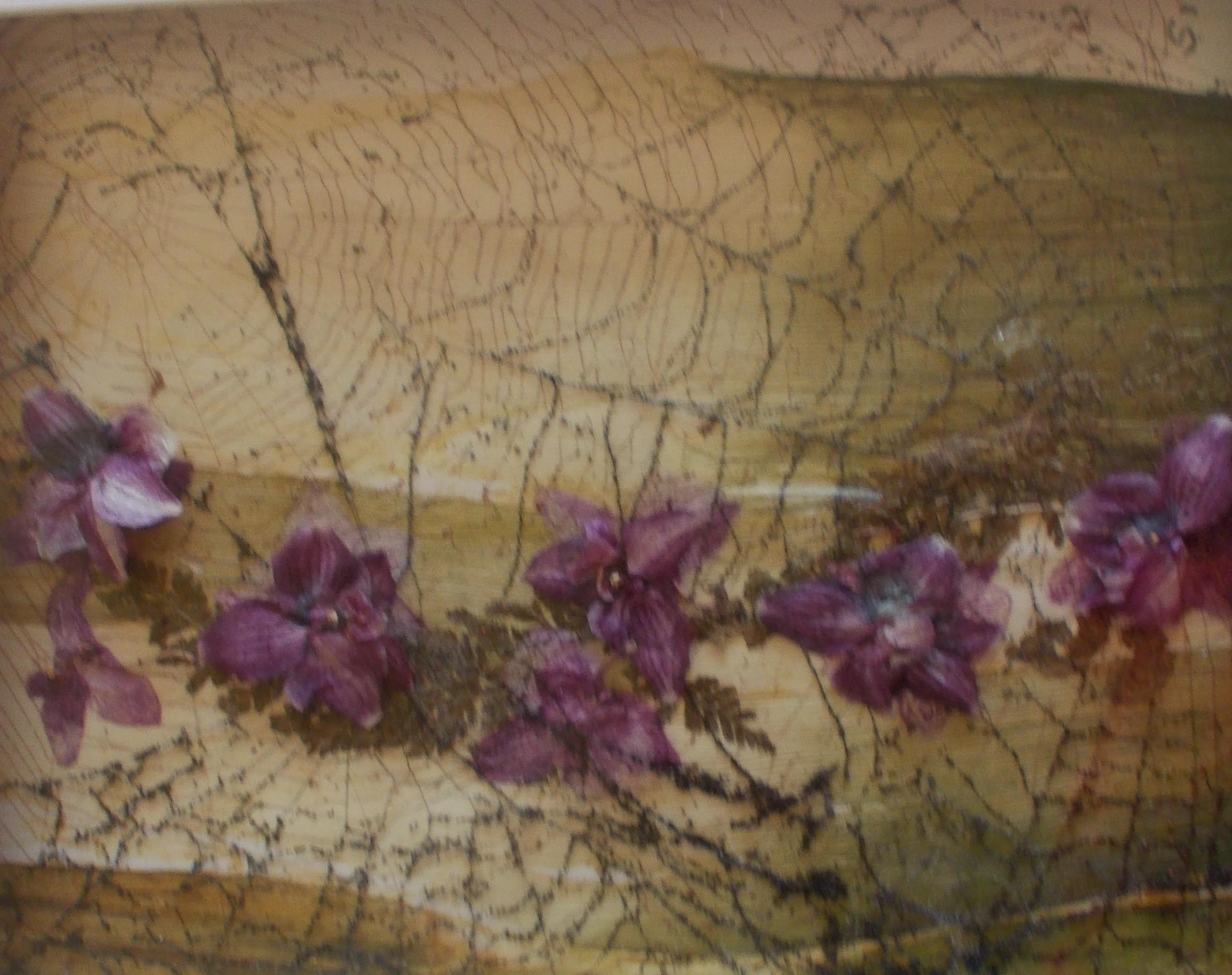 Orchideen auf Porree 30*40 3D