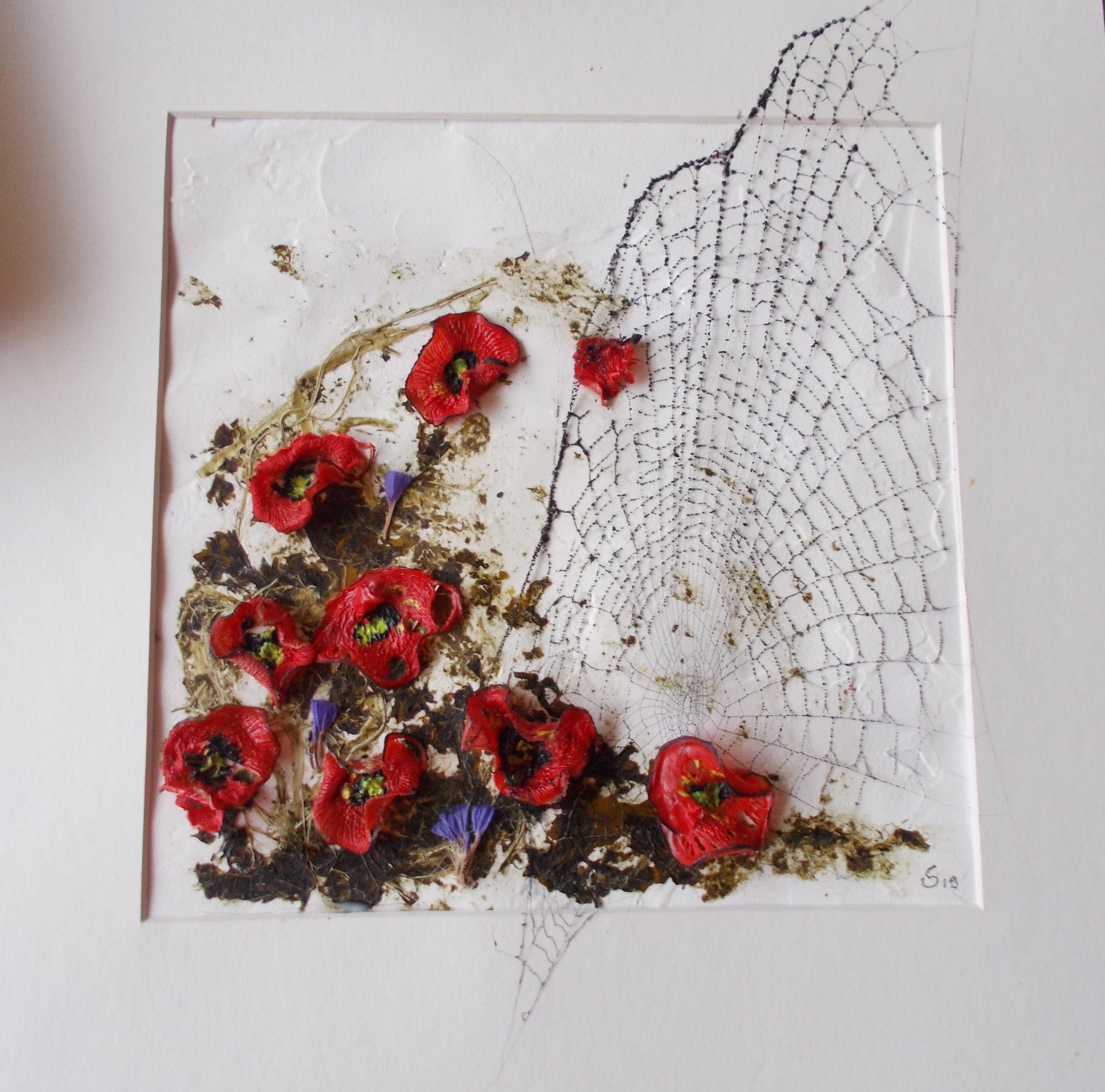 Blumen mit Netz 1 30*30